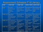 assessment schedule p 6 literacy
