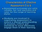 characteristics of effective assessment 5 6