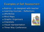 examples of self assessment
