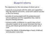 blueprint reforms