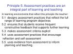 principle 5 assessment practices are an integral part of learning and teaching