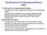 the blueprint for educational reform 2003