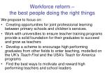 workforce reform the best people doing the right things1