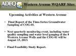western avenue wqarf sites