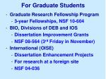 for graduate students