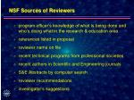 nsf sources of reviewers