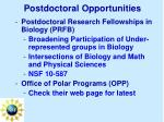 postdoctoral opportunities