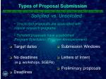 types of proposal submission