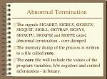 abnormal termination