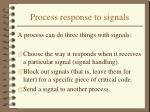 process response to signals