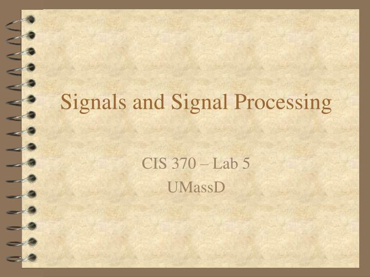 signals and signal processing n.