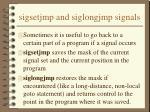 sigsetjmp and siglongjmp signals