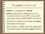 the pause system call