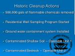 historic cleanup actions