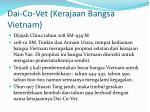 dai co vet kerajaan bangsa vietnam