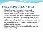 kerajaan pegu 1287 1533