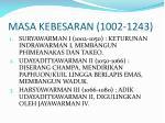masa kebesaran 1002 1243