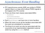 asynchronous event handling