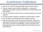 asynchronous notifications
