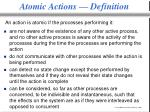 atomic actions definition