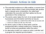 atomic actions in ada