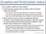 exceptions and nested atomic actions2