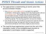 posix threads and atomic actions