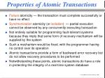 properties of atomic transactions