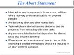 the abort statement