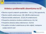 anketa o problematiki absentizma na s
