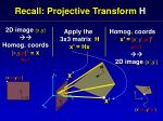 recall projective transform h