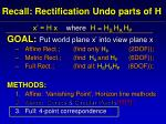 recall rectification undo parts of h