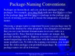 package naming conventions