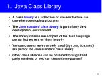 1 java class library