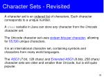character sets revisited