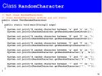 class randomcharacter1