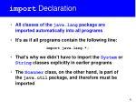 import declaration1