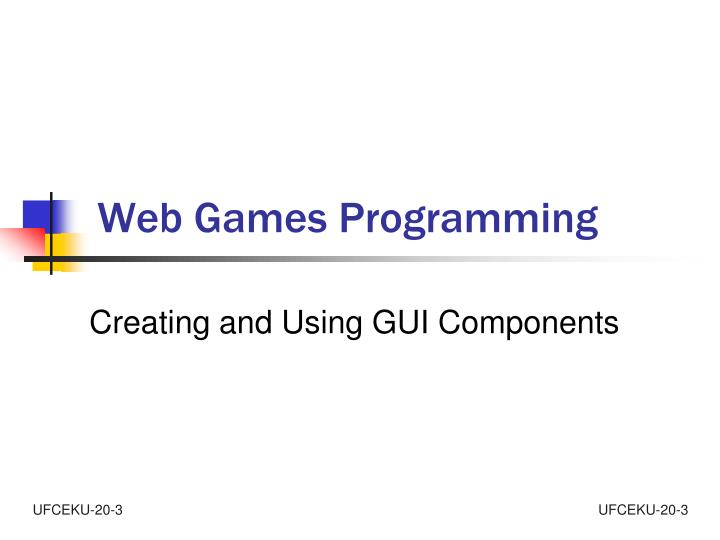 web games programming n.