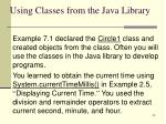 using classes from the java library