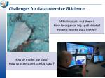 challenges for data intensive giscience