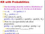 kr with probabilities
