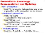 probabilistic knowledge representation and updating