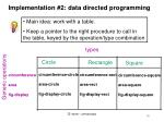 implementation 2 data directed programming