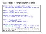 tagged data rectangle implementation