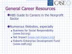 general career resources