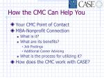 how the cmc can help you