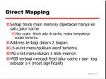 direct mapping
