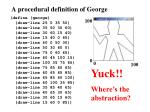 a procedural definition of george