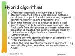 hybrid algorithms