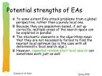 potential strengths of eas